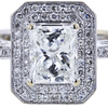 1.08 ct. Radiant Modified Cut Halo Ring, H, VVS1 #4