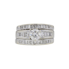 1.12 ct. Round Cut Bridal Set Ring, I, I3 #3