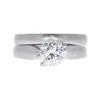 0.89 ct. Round Cut Bridal Set Ring, K, VS2 #3