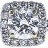 0.70 ct. Round Cut Bridal Set Ring, D, SI2 #4