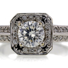 .97 ct. Round Cut Halo Ring #4