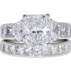 3.3 ct. Radiant Cut Bridal Set Ring, E, SI1 #3