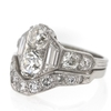 1.17 ct. Old Mine Cut Bridal Set Ring #2