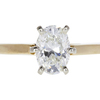 1.09 ct. Oval Cut Solitaire Ring, H, SI1 #3