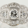 0.68 ct. Round Cut 3 Stone Ring #1