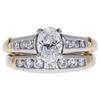 0.77 ct. Oval Cut Bridal Set Ring, E, VS2 #3