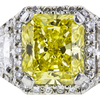 3.09 ct. Radiant Cut Halo Ring, Fancy, VS2-SI1 #1