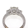 1.26 ct. Round Cut 3 Stone Ring #2