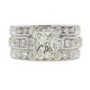 2.14 ct. Princess Cut Bridal Set Ring, M, I1 #3