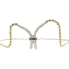 Round Cut Chain Necklace, G-H, VS2-SI1 #2
