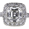1.33 ct. Cushion Cut Halo Tiffany & Co. Ring #4