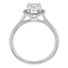 0.90 ct. Round Cut Halo Ring, H, SI2 #3