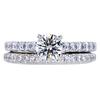 0.60 ct. Round Cut Bridal Set Ring, G, VS1 #3