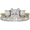 0.66 ct. Princess Cut Bridal Set Ring, D, VS2 #1