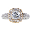 1.01 ct. Round Cut Halo Ring #1