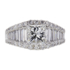 1.7 ct. Princess Cut Central Cluster Ring, I, VS1 #3