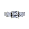 1.00 ct. Radiant Cut 3 Stone Ring, G, VS2 #3