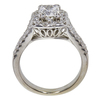 1.01 ct. Cushion Cut Bridal Set Ring, E, VVS2 #4
