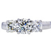1.02 ct. Round Cut 3 Stone Ring, K, I1 #3