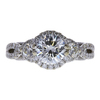 1.39 ct. Round Cut 3 Stone Ring, H, VS2 #2