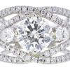 2.64 ct. Round Cut Bridal Set Ring, H, I2 #4