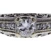 0.66 ct. Princess Cut Bridal Set Ring, F-G, VS2 #1