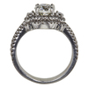 0.9 ct. Round Cut Bridal Set Ring, K, SI2 #4
