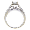 1.45 ct. Radiant Cut Bridal Set Ring, I, SI2 #4