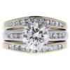 1.57 ct. Round Cut Bridal Set Ring, G, SI1 #3