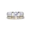 0.79 ct. Round Cut Bridal Set Ring, E, SI2 #3