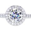 1.14 ct. Round Cut Bridal Set Ring, I, SI1 #3