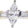 1.2 ct. Marquise Cut 3 Stone Ring, G, SI1 #4