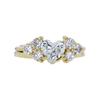 1.01 ct. Heart Cut Bridal Set Ring, H, I1 #3