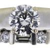 1.15 ct. Round Cut Bridal Set Ring, K, SI2 #4