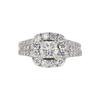 0.9 ct. Princess Cut Bridal Set Ring, I, SI2 #3