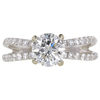 1.34 ct. Round Cut Bridal Set Ring, H, I1 #1