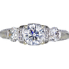 0.97 ct. Round Cut 3 Stone Ring, I, SI2 #3
