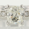 0.91 ct. Cushion Cut Solitaire Ring #1