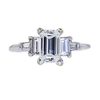 1.17 ct. Emerald Cut 3 Stone Ring, F, I1 #3