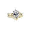 1.20 ct. Oval Cut Bridal Set Ring, H, VS1 #3