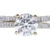 2.01 ct. Round Cut Bridal Set Ring, J, I1 #3