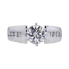 1.09 ct. Round Cut Solitaire Ring, I, VS2 #3