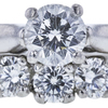 0.73 ct. Round Modified Brilliant Cut Bridal Set Ring, F, VS1 #4