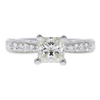 1.11 ct. Princess Cut Central Cluster Ring, J, VS2 #3