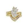 1.65 ct. Marquise Cut Bridal Set Ring, I, I1 #3