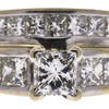 0.95 ct. Princess Cut Bridal Set Ring, G-H, I1 #1