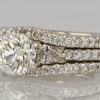 1.46 ct. Round Cut Bridal Set Ring #1