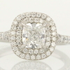 0.85 ct. Cushion Cut Halo Ring #4