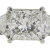 3.55 ct. Princess Cut Bridal Set Ring, I, SI2 #4