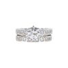1.02 ct. Round Cut Bridal Set Ring, J, SI1 #3